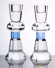 Crystal Candlestick Set - Blue (1653B)