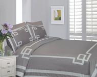 Mayfair Steel & White Linen Set
