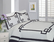 Mayfair White & Noir Linen Set