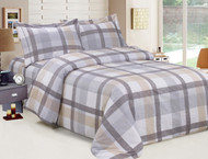 French Oscar Plaid Grey Linen Set