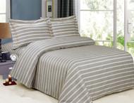 French Gold Grey Stripe Linen Set