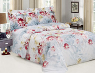 French Blossom Blue Linen Set