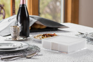 Classic Touch Lucite Napkin Holder Frosted Flat