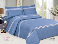 French Cheerful Blue Linen Set