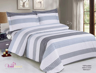 French New Moon Stripe Linen Set