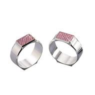 Pink Glitter Napkin Rings, Set of 2