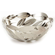 Round Leaves Basket Nickel Plated Stainless Steel