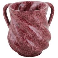 Spiral Design Washing Cup Mock Marble Wine