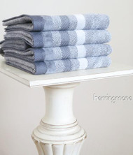 Herringbone Grey Oversized Hand Towel