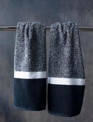 Black & White Oversized Hand Towel
