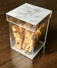 Sleek Marble Design Cookie Jar