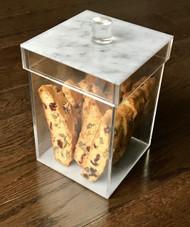 Sleek Marble Design Cookie Jar
