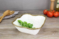 Golden Salerno Medium Square Salad Bowl