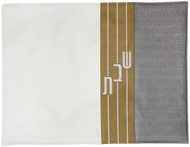 Three-Tone Horizontal Stripe Challah Cover