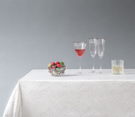 White Crisscross Tablecloth