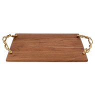 Wisteria Gold Wood Challah Board