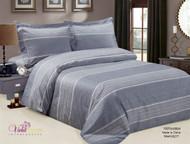 French Sierra Blue Linen Set
