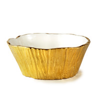 Gold Tree Bark Bowl, 96 oz