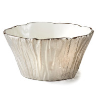 Silver Tree Bark Bowl, 48 oz