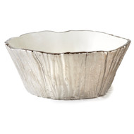 Silver Tree Bark Bowl, 96 oz