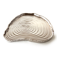 Silver Tree Bark Tray, 13""