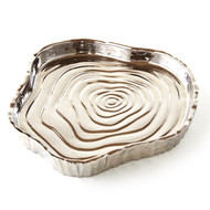 Silver Tree Bark Tray, 8.75""