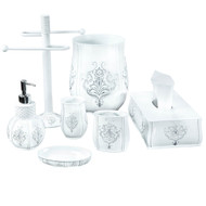 Creative Scents Vintage White Bath Accessories