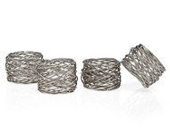Round Mesh Napkin Ring Set