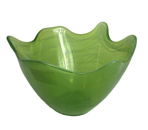 Opaque Hilo Lime Glass Bowl