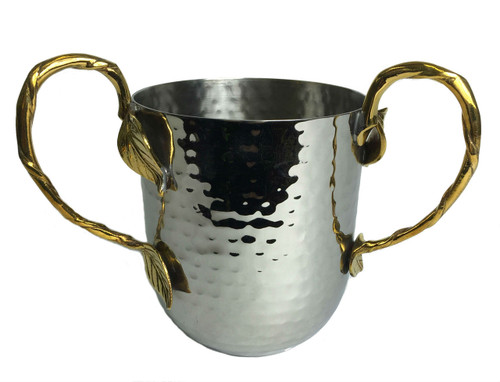 Hammered Leaf Gold Washing Cup