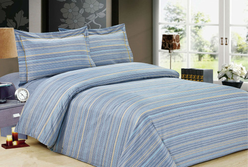 French Chain Stripe Linen Set