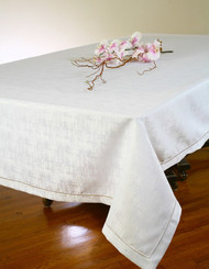 European Orion Embroiderd Hem Tablecloth