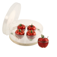 Mini Apple Honey Dish Set