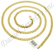 4mm Miami Cuban Link 14k Chain Lobster Lock
