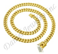 11mm Miami Cuban Link 14k Solid Chain