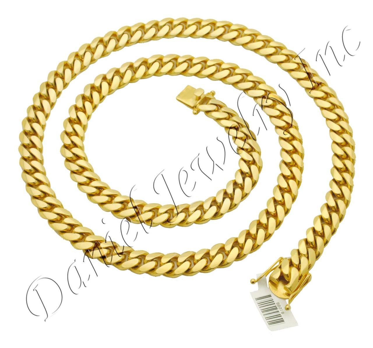 10k Gold Cuban Link Chain >> 10mm Miami Cuban Link 10k Chain