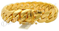 17mm Miami Cuban Link 14k Bracelet