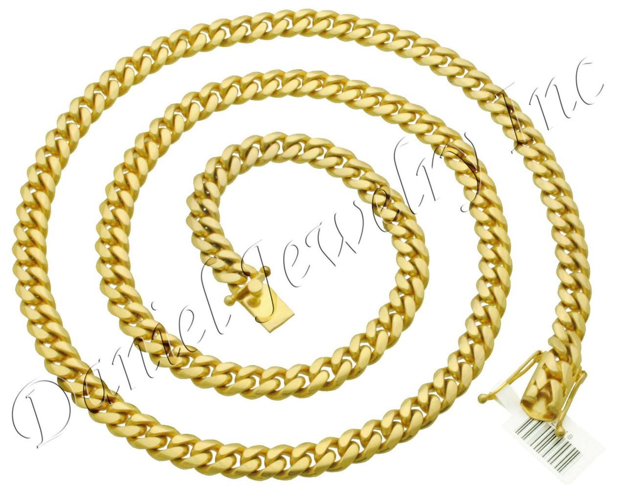 10k Gold Cuban Link Chain >> 8mm Miami Cuban Link 10k Chain
