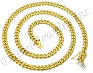 8mm Miami Cuban Link 10k Solid Chain
