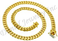 12mm Miami Cuban Link 10k Solid Chain