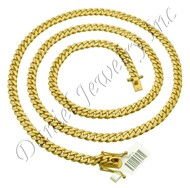 6mm Miami Cuban Link 14k Solid Chain