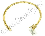 5mm Miami Cuban Link 10k Bracelet