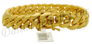 13mm Miami Cuban Link 18k Bracelet
