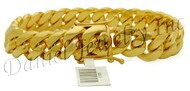 13mm Miami Cuban Link 18k Solid Bracelet