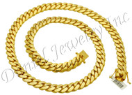 12mm Miami Cuban Link 18k Chain