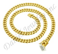 10mm Miami Cuban Link 18k Chain