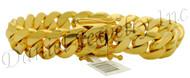 14mm Miami Cuban Link 18k Solid Bracelet