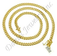7mm Miami Cuban Link 18k Solid Chain
