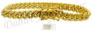 9mm Miami Cuban Link 18k Solid Bracelet