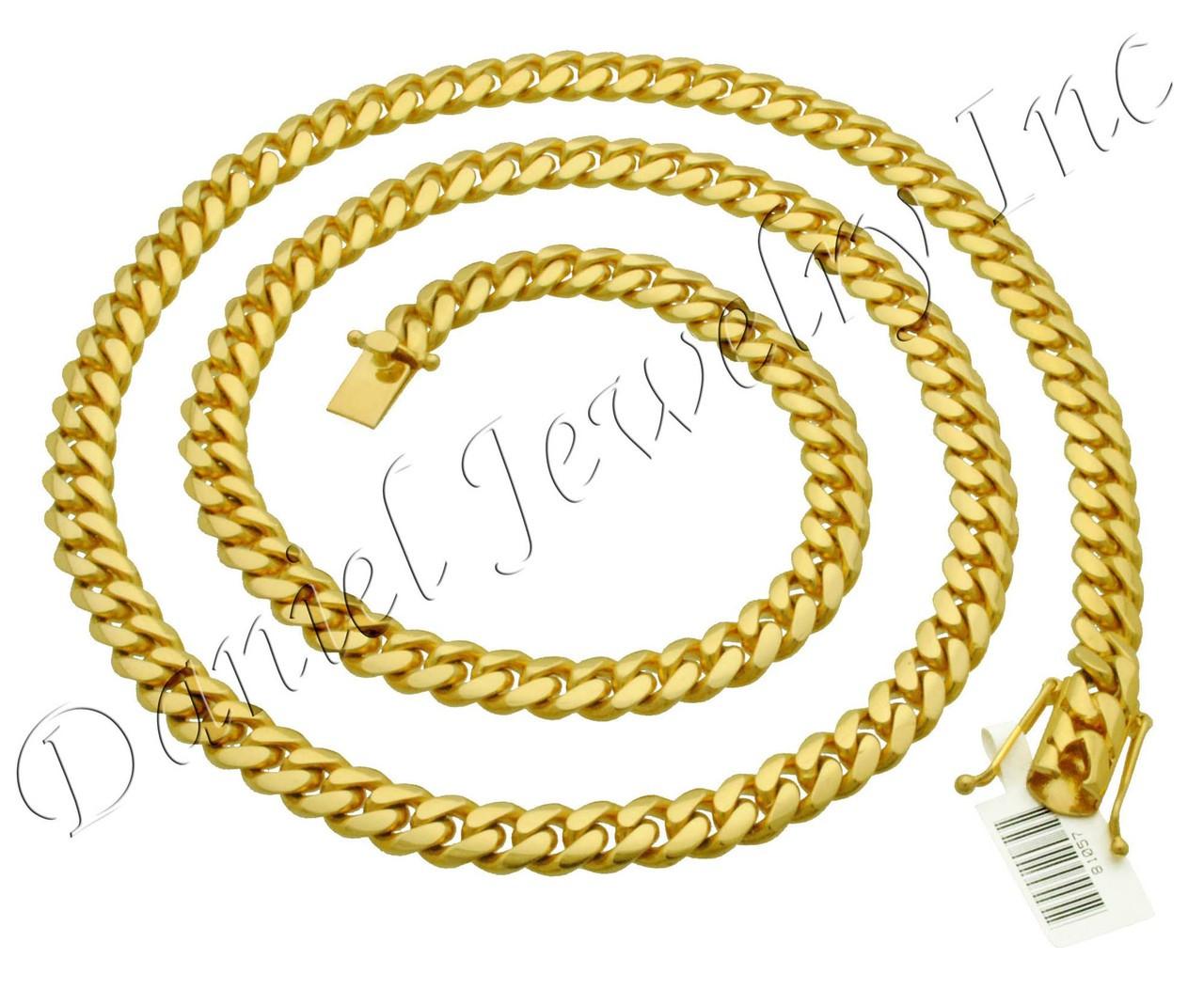 8f07ffa31739f2 ... 9mm Miami Cuban Link 18k Chain. Image 1